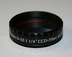 baader oxygen OIII narrowband CCD camera filter side view