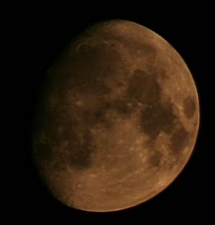Moon with canon 350D and sigma 70 200mm lens