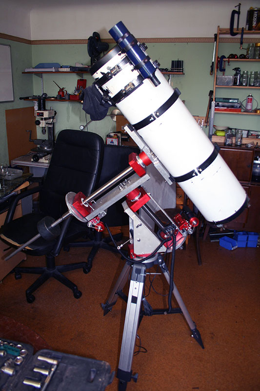 homemade telescope mount