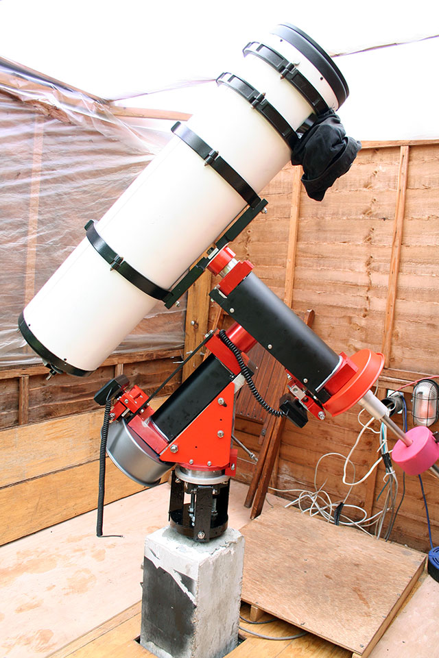 diy telescope mount in observatory
