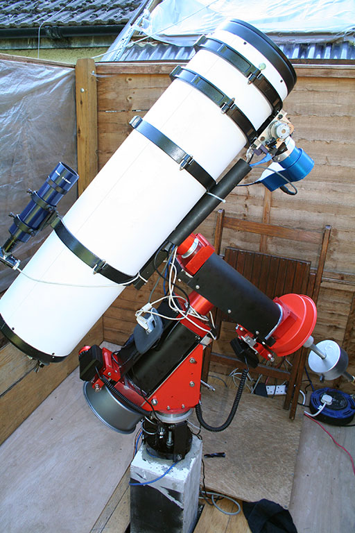 image of telescope wired up on new mount