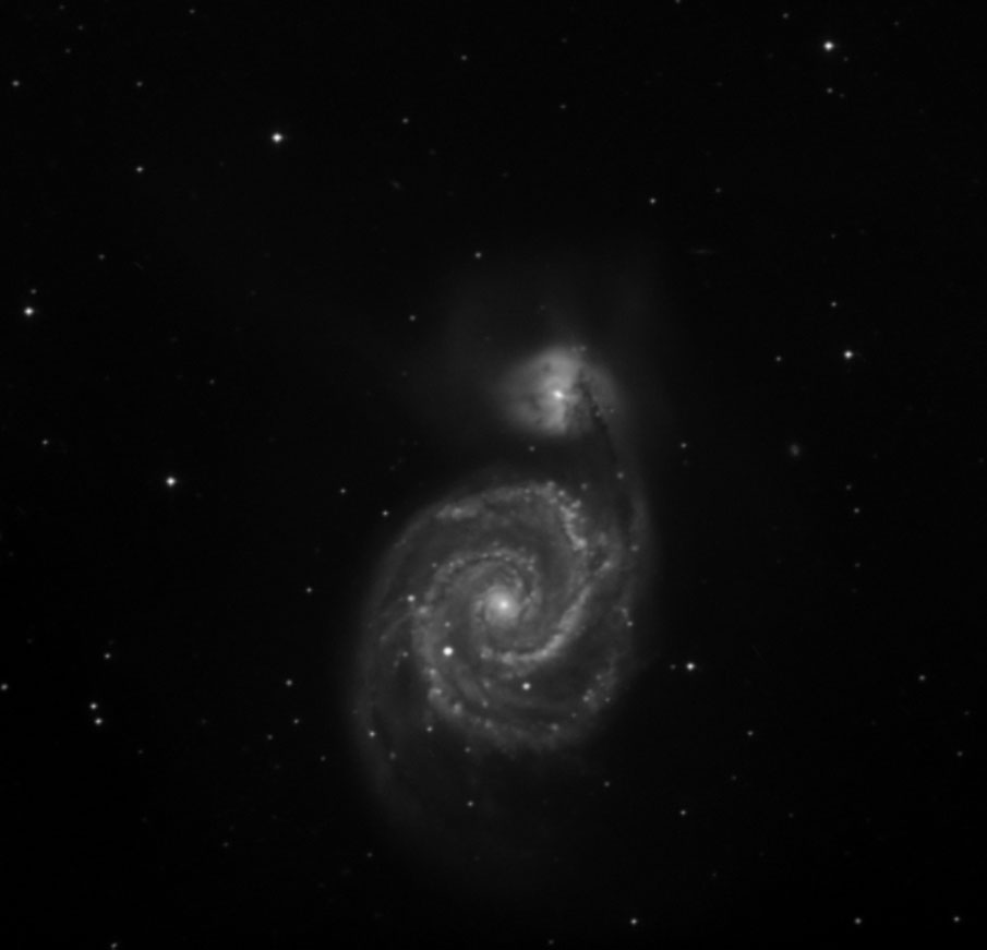 Veiw full sized image of M51 Whirlpool galaxy