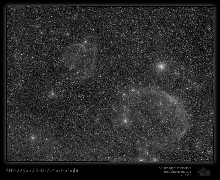 Veiw full sized image of Sh2-223 and Sh2-224