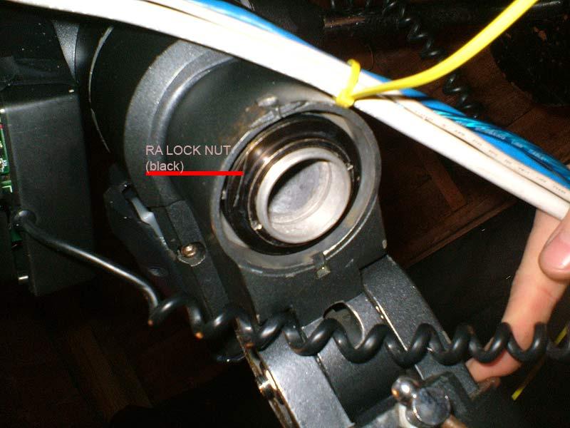 The LXD55 EQ5 telescope mount RA lock nut